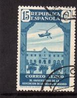 SPAIN ESPAÑA SPAGNA 1936 AIR MAIL CORREO AEREO MADRID PRESS ASSOCIATION HOUSE OF NAZARETH CENT. 15c USATO USED OBLITERE' - Usati