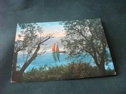 STORIA POSTALE  FRANCOBOLLO MISSIONARI SALESIANI ITALIA RIVE LAGO D'ISEO NAVE SHIP - Chiatte, Barconi