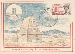 Carte   Maximum  ALGERIE  Journées   LECLERC    COLOMB  BECHAR   1959 - Algeria (1924-1962)