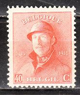173*  Roi Albert Casqué - Une Bonne Valeur - MH* - LOOK!!!! - 1919-1920 Behelmter König