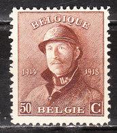 174*  Roi Albert Casqué - Une Bonne Valeur - MH* - LOOK!!!! - 1919-1920 Trench Helmet