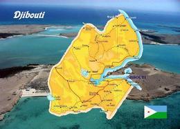 Djibouti Country Map New Postcard Dschibuti Landkarte AK - Dschibuti