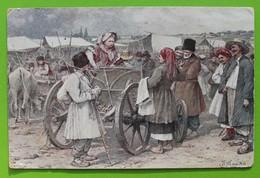 14303  Ukraine. A.Zhdaha. At The Fair. CPA - Malerei & Gemälde