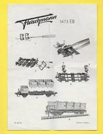Planche Fleischmann 1960/61  FS 6 60 HO - Printed In GERMANY - Trains Mécaniques Ou à Piles - Trains électriques