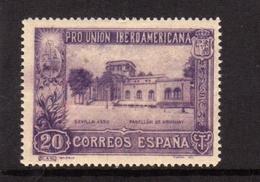 SPAIN ESPAÑA SPAGNA 1930 URUGUAY PAVILION PADIGLIONE CENT. 20c MLH - 1889-1931 Regno: Alfonso XIII