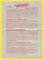 Planche Fleischmann 1960/61  SN 1059 HO - Printed In GERMANY - Trains Entretien Des Véhicules Et Des Voies - Trains électriques