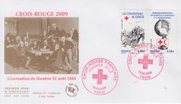 Enveloppe  FDC   1er Jour    FRANCE    CROIX  ROUGE    2009 - FDC
