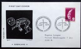 Greenland   1978 Cz.Slania. Tupilak  MiNr.111 FDC ( Lot Ks) FOGHS COVER - FDC