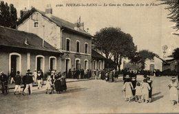 CPA RARE FOURAS LES BAINS LA GARE DES CHEMINS DE FER DE L'ETAT - Fouras-les-Bains