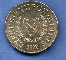Chypre -  10 Cents 2002  -  Km # 56.3  - état  SPL - Cyprus