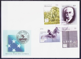 Micronesia 2004 4v FDC, Olympic President Baron, Sports   ( - Summer 1896: Athens