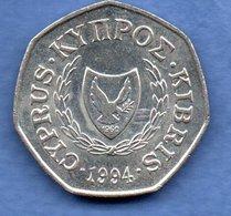 Chypre -  50 Cents 1994  -  Km # 66  - état  SUP - Cyprus