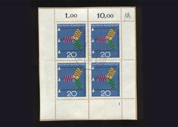 BRD 1966, Briefstück Mit 4 X Eckrand Michel-Nr. 521, Fortschritt In Technik Und Wissenschaft, 20 Pf., Gestempelt - BRD