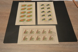 M6337 - Stamps In Sheet Of 10 Used Czechslovakia- 1962 - Ground  , Cardinal And Stag Beetle - Sonstige