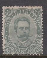 Italy S 46 1889 King Humbert I, 45c Green Olive, Mint Hinged - 1878-00 Umberto I