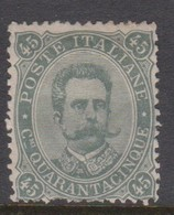 Italy S 46 1889 King Humbert I, 45c Green Olive, Mint Hinged - Mint/hinged