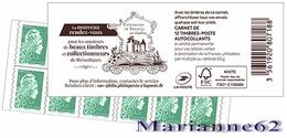 """France 2019 Carnet Marianne LV - Marianne L'engagée - """" Patrimoine De France """" Thématique Veaux - MNH Neuf - Usage Courant"""