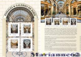France 2019 Collector Passages Princes, Verdeau Et Galeries De Paris Véro-Dodat,  Vivienne - 4v MNH / Neuf - Collectors