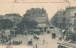 CPA - Transports - Tram - Tramway - Toulouse - Carrefour De La Rue Alsace-Lorraine - Andere
