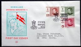 Greenland   1978 Cz.Slania.    MiNr.106-8 FDC ( Lot Ks) - FDC