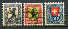 13111 SUISSE  N° 214/7 ° Sauf 215 Armoiries De Cantons Ou De La Suisse : Pro Juventute 1924    TB - Used Stamps