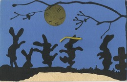 SILHOUETTES   ( Vendu Au Profit Des Missions )   Lapin - Lune - Moon - Rabir - Konijn - Maan - Silhouettes
