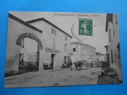 """17 ) Nancras - Braun N° 1697 - Le Centre """" Café De L'hotel """" Attelage """"  - Année - EDIT - - France"""