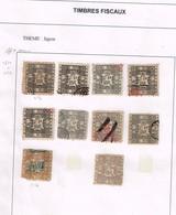 Lot Japon Timbres Fiscaux à Identifier - Postzegels