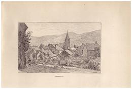 Gravure Sur Bois - 1904 - Servance (Haute-Saône) - Vue Générale - FRANCO DE PORT - Prints & Engravings
