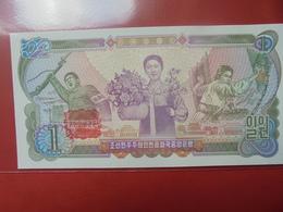 COREE(NORD) 1 WON 1978(CONTREMARQUE ROUGE) PEU CIRCULER/NEUF - Corée Du Nord