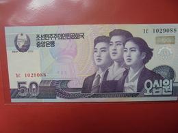COREE(NORD) 50 WON 2002 PEU CIRCULER/NEUF - Corea Del Norte