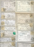 FRANCE - CLASSIQUES : LOT  De 25 Cartes Postales Avec Le N°59.  GC. B à TB. - 1871-1875 Ceres