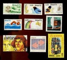 Brésil Brasil - Lot N° 59 De 9 Timbres Scannés Recto Verso - Brazil