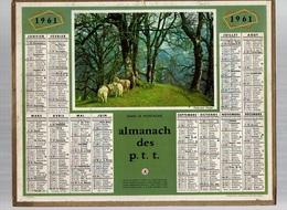 Calendrier Almanach Des P.t.t De 1961 Du Pas De Calais - Calendriers