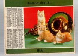 Calendrier Almanach Des P.t.t De 1968des Pyrénées-Orientales Avec Chatons Et Chiens - Calendriers