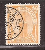 MAROC Locales Fez à Sefro 50c Jaune-orange Obl. SEFRO - Morocco (1891-1956)