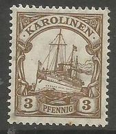 German Caroline Islands - 1919 Kaiser's Yacht 3pf  MH *   Sc 21 - Colony: Caroline Islands