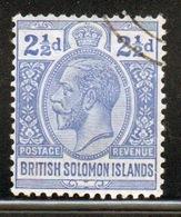 British Solomon Islands 1914 Single 2½d Stamp. - Salomonseilanden (...-1978)