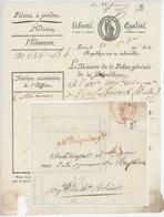 Paris An 5 - 7.9.1797 Héraldique Ministère De La Police Générale Sénéchal 932A 'Cathéchisme' - Postmark Collection (Covers)