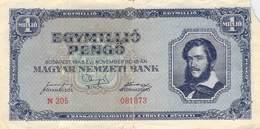 1 Mio Pengö Ungarn 1945 VF/F (III) - Ungarn