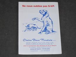 CHAINE BLEUE MONDIALE - NE NOUS OUBLIEZ PAS S.V.P. - Folder Information - Old Paper