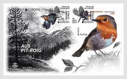 Andorra (Spain) 2019 FDC Birds  Robin  (Erithacus Rubecula) Rouge-gorge Familier  Bird EUROPA Oiseaux Oiseau - Vogels