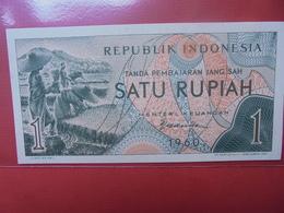 INDONESIE 1 RUPIAH 1960 PEU CIRCULER/NEUF - Indonésie