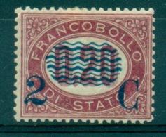 REGNO 1875 FRANCOBOLLI DI SERVIZIO 2C. SU 0,20 MLH  EURO 500 - Dienstpost