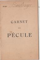 Carnet De Pécule (vierge) Du Poilu Boulenger Du 39è D'Infanterie. (A -t-il été Tué En Ce Début De Printemps 1918 ?) - 1914-18