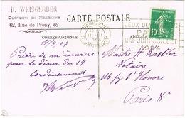 O.MEC FLIER PARIS XVII JEUX OLYMPIQUES PARIS 1924 SUR CPA - Annullamenti Meccanici (pubblicitari)