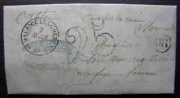 Randonnai Par Saint Maurice (orne) 1850 Origine Rurale, Lettre Taxée De Leroux Fers Fontes Et Clous - Marcophilie (Lettres)