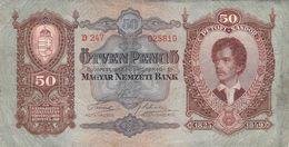 50 Pengö Ungarn 1932 VF/F (III) - Ungarn