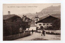 - CPA SERVOZ (74) - Gorges De La Diosaz - Intérieur Du Village (avec Personnages) - Edition A. Gardet 1145 - - France