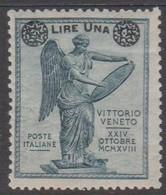 Italy S 160 1924 Surcharged, Lire Una On 15c Slate, Mint Hinged - 1900-44 Vittorio Emanuele III